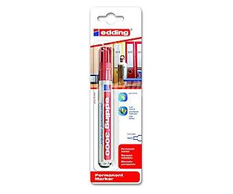 Edding Marcador permanente con punta biselada y gosor de trazo de 1.5 - 3 mm tinta color rojo 3000