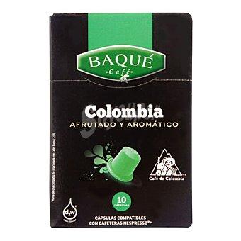 Baqué Café colombia 10 ud
