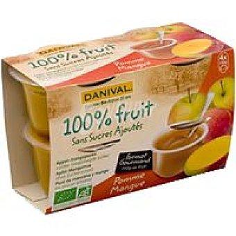 DANIVAL Compota de manzana-mango Pack 440