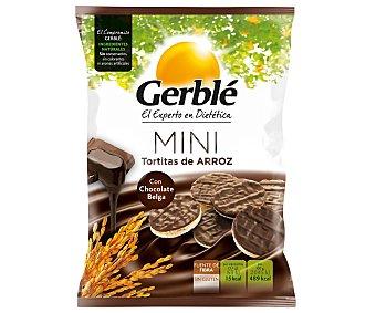 Gerblé Mini tortitas de arroz con chocolate belga 48 gramos
