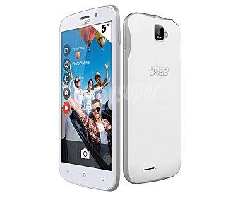 "Yezz andy 5EI3 Teléfono móvil libre blanco, procesador: Dual-Core, Ram: 512MB, almacenamiento: 4GB ampliable mediante MicroSD, pantalla: 5"" 854 x 480px, cámara: 5 Mpx, Dual-sim, Android 4.4"