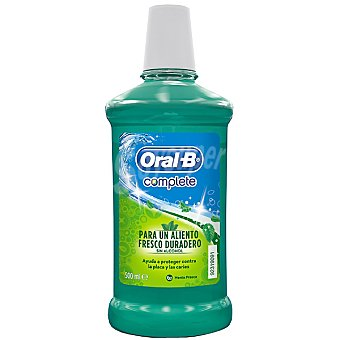 ORAL B Complete enjuague bucal Fresh & Clean para un aliento fresco y duradero sin alcohol  frasco 500 ml
