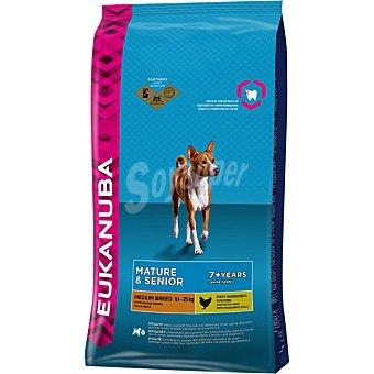 Eukanuba Mature & senior medium breeds pienso completo para perros adultos +7 años raza mediana Bolsa 12 kg
