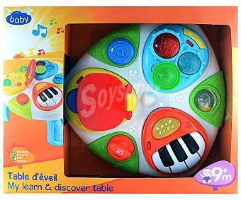 BABY Mesa de Actividades Extraibles con Luces, Sonidos, Formas y Colores 1 Unidad