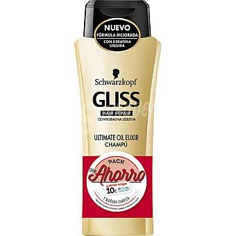 Gliss Schwarzkopf Champú ultimate oil elixir con keratina líquida Hair Repair Pack 2 frasco 250 ml