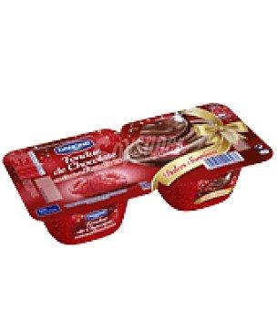 Danone Fondue de chocolate con coulis de frambuesa pack de 2x125 g