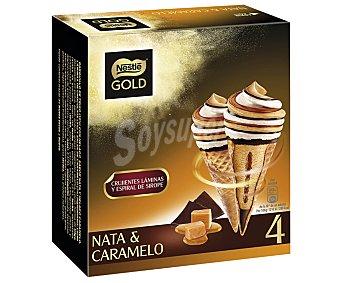 NESTLE 4 Helado nata - caramelo gold uds