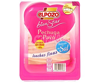 ElPozo Pechuga de pavo sin sal 180 g