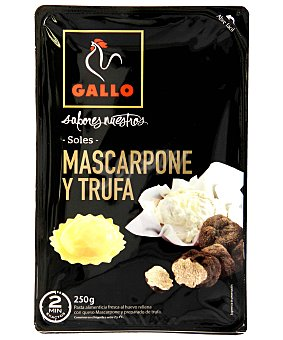 Gallo Soles de pasta fresca al huevo rellena de que mascarpone y preparado de trufa 250 g