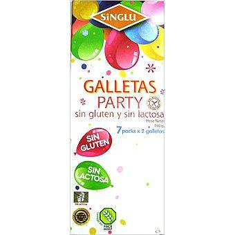 SINGLU Galletas Party sin gluten sin lactosa Estuche 150 g
