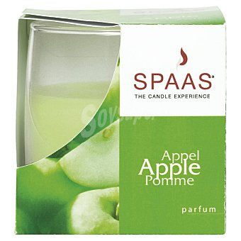 Spaas Vela Perfumada en vaso de cristal mate aroma Manzana 1 Unidad