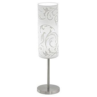 EGLO Amadora Lámpara de sobremesa en color niquel y blanco