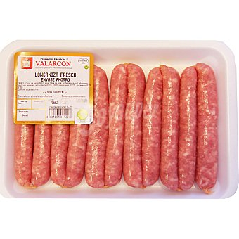 VALARCON Longaniza fresca de cerdo formato ahorro Bandeja 500 g