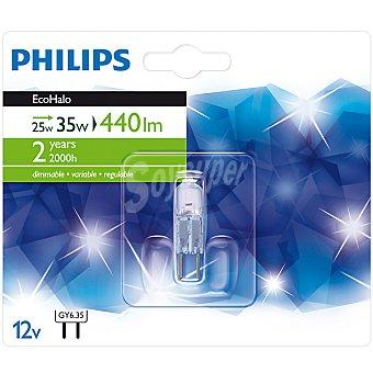 PHILIPS Ecohalo 25 W (60 W) lámpara eco halógena GY6.35 12 V