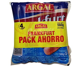 Argal Salchichas cocidas y ahumadas tipo Frankfurt 4 x 140 g