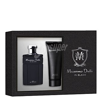 Massimo Dutti Estuche colonia In Black spray 50 ml. + after shave 100 ml. 1 ud