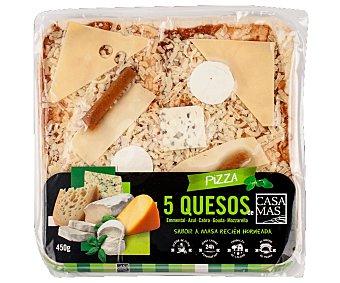 Casa Mas Pizza 5 quesos Envase 450 g