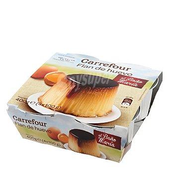 Carrefour Flan de huevo Pack 4x100 g