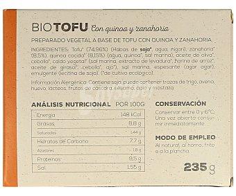 Ahimsa Tofu con quinoa y zanahorias biológico 230 gramos