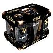 Cerveza Draught irlandesa negra + regalo vaso de pinta Pack de 5 latas de 44 cl. Guinness