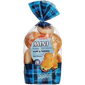 Aliada pan de hamburguesas mini con sésamo 12 unidades Bolsa 250 g