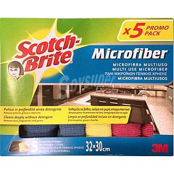 Scotch Brite Bayeta microfibra multiusos 32x30 cm Envase 5 unidades