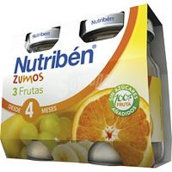 Nutribén Zumo de 3 frutas Pack 2x130 ml
