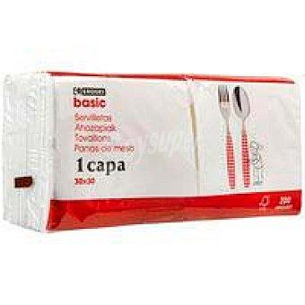 Eroski Basic Servilleta blanca 200 u