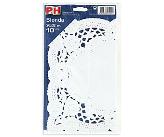 P & H Blondas 26x32cm 10 unidades
