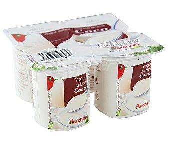 Auchan Yogur con sabor a coco Pack de 4 unidades de 125 gramos