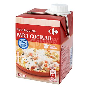 Carrefour Nata para cocinar líquida ligera 500 ml