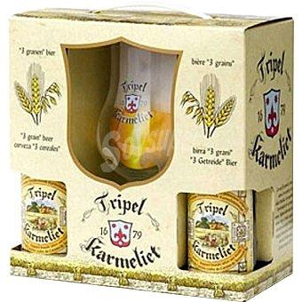 Tripel karmelit cerveza rubia belga  pack 4 botellas 33 cl
