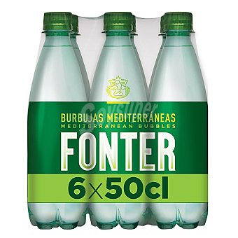 Fonter Agua mineral con gas Pack 6x50 cl
