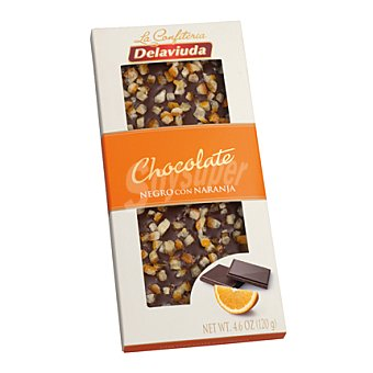 Delaviuda Chocolate negro con naranja Tableta 120 g