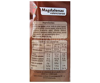 Auchan Magdalenas valencianas 700 gramos