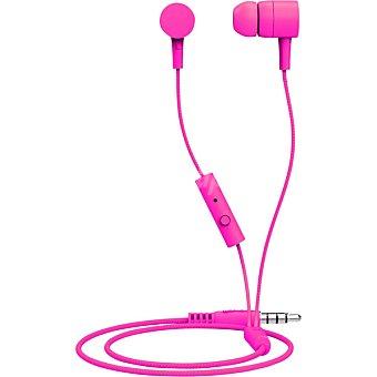 MAXELL Auriculares de botón intrauditivos con micrófono en color rosa 1 Unidad