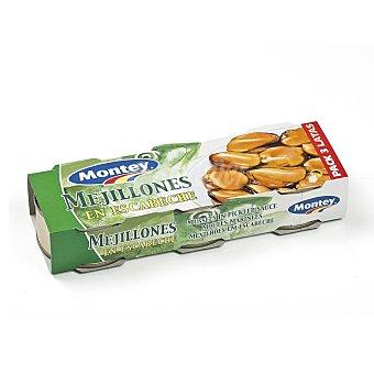 Montey Mejillones en escabeche pack 3 latas 43 gr Pack 3 latas