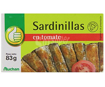 Productos Económicos Alcampo Sardinillas en tomate Lata de 58 grs