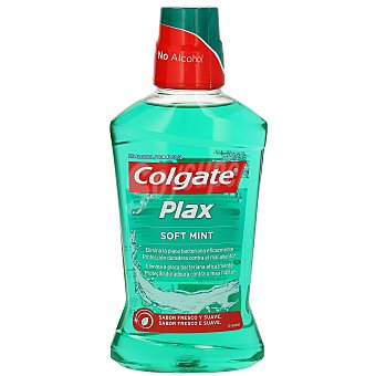 Colgate Enjuague bucal verde menta suave 500 ml