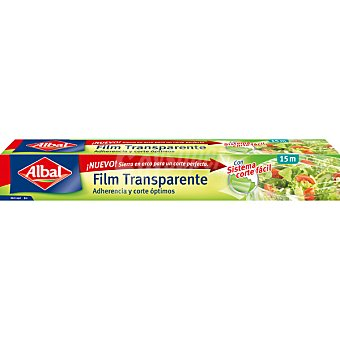 Albal Film transparente muy adherente y fácil de cortar Rollo 15 metros