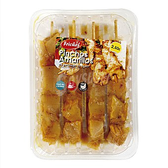 Uvesa Pincho moruno amarillo de pechuga de pollo Bandeja 320 g (4 u)
