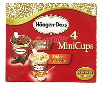 Häagen-Dazs Minicups 2 Choco Belga+2 Dulce Leche 400ml
