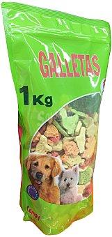 COMPY Comida perro snack galleta hechas al horno (con formas divertidas y aroma vainilla) Paquete de 1 kg