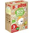 Bio palomitas para microondas al punto de sal 100% ecológico sin gluten pack 3x80 G Estuche 240 g Popitas Borges
