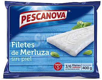 Pescanova Filetes de merluza sin piel 400 g