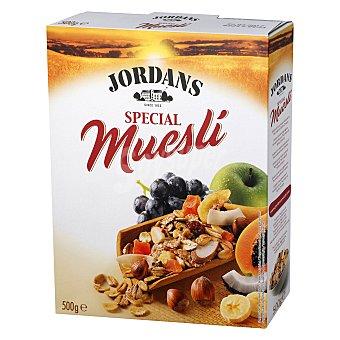 JORDANS Cereales de desayuno Muesli Special 32% de frutas y frutos secos  paquete 500 g