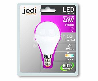 JEDI Bombilla led esférica, casquillo E14 (fino), 6,5 Wattios, luz cálida 1 Unidad