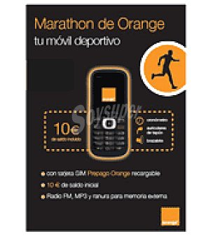 Alcatel Marathon orange negro Pack 506
