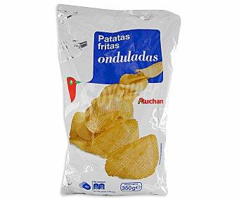 Auchan Patatas fritas onduladas 350 gramos
