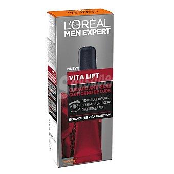 L'Oréal Men Expert Vita Lift cuidado anti-edad contorno de ojos con extracto de viña francesa tubo 15 ml tubo 15 ml